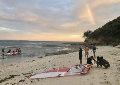 Ambiance du soir-mazavaloha-ecole-kite-mer-emeraude-madagascar
