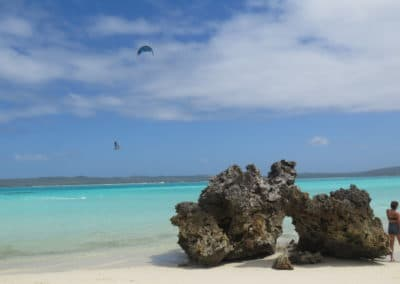 la piscine en pivot 7m-mazavaloha-ecole-kite-mer-emeraude-madagascar